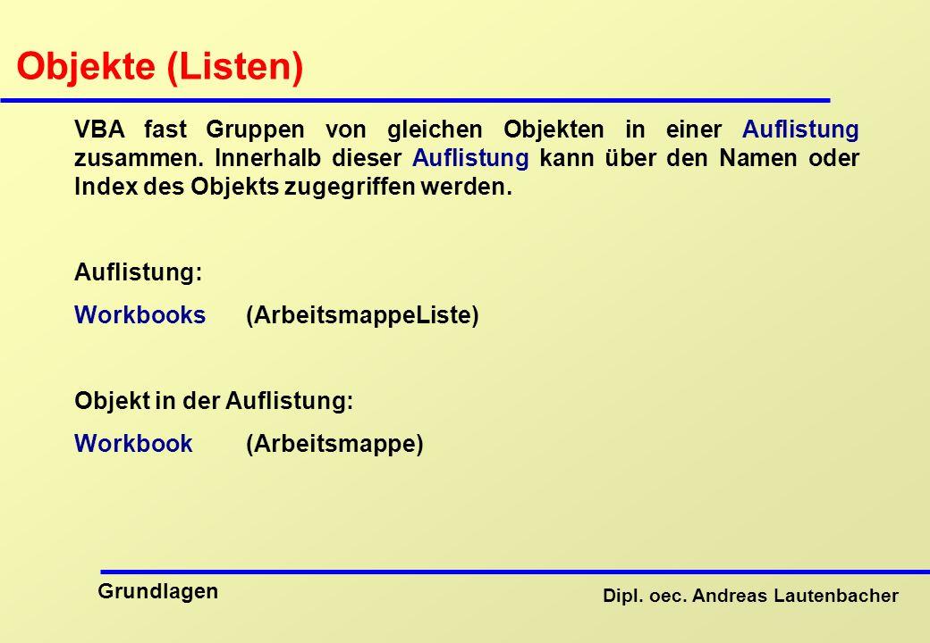 Objekte (Listen)