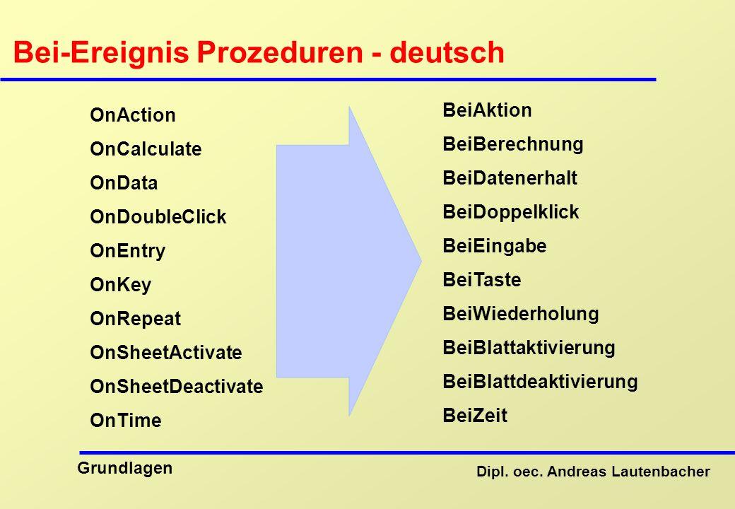 Bei-Ereignis Prozeduren - deutsch
