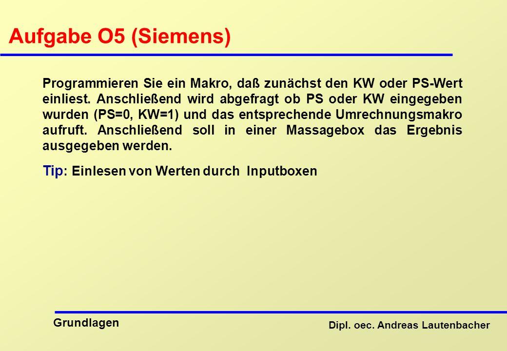 Aufgabe O5 (Siemens) Tip: Einlesen von Werten durch Inputboxen