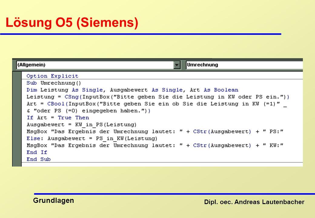 Lösung O5 (Siemens)