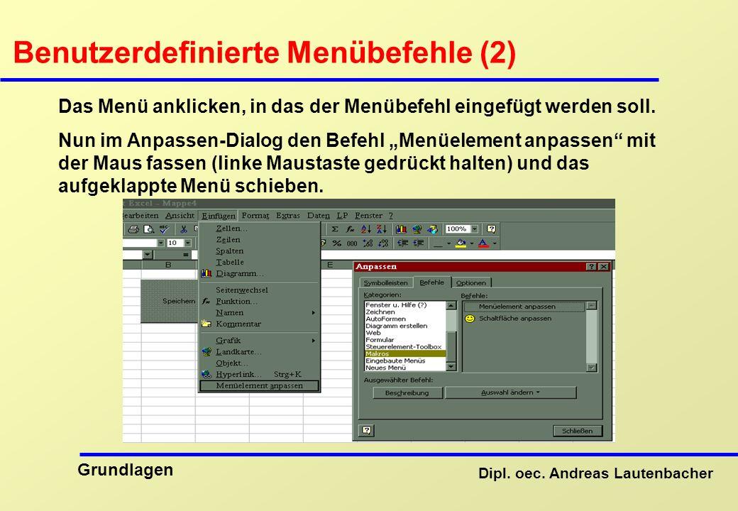 Benutzerdefinierte Menübefehle (2)