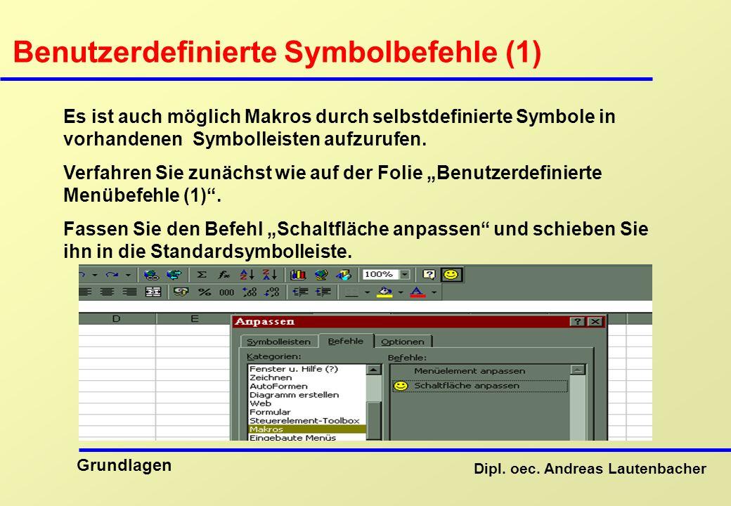Benutzerdefinierte Symbolbefehle (1)