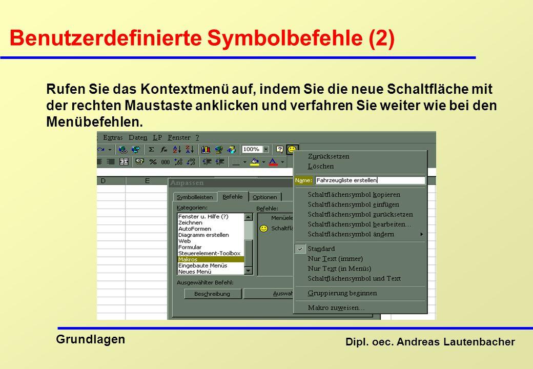 Benutzerdefinierte Symbolbefehle (2)