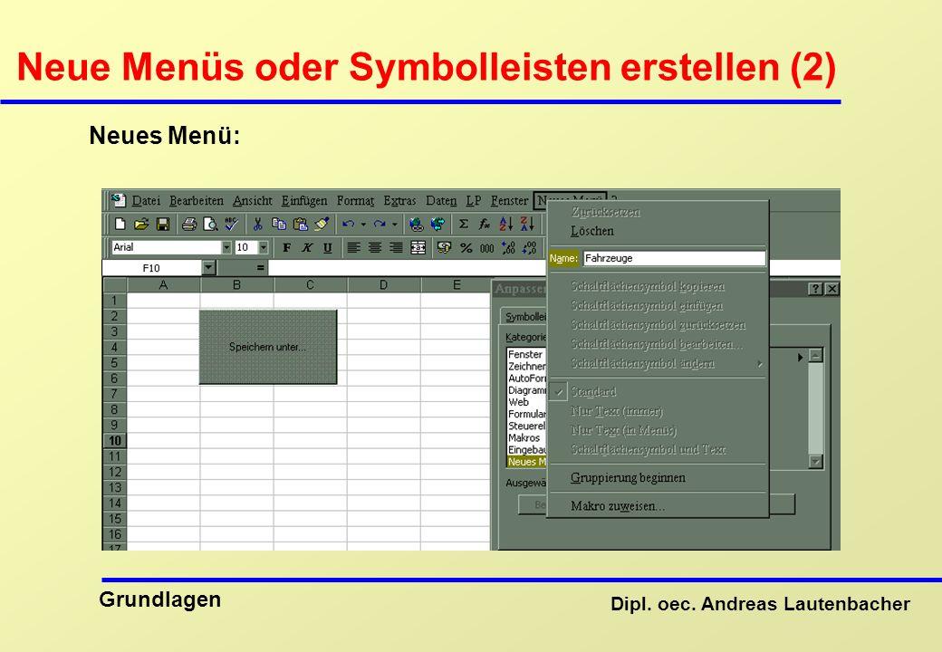 Neue Menüs oder Symbolleisten erstellen (2)