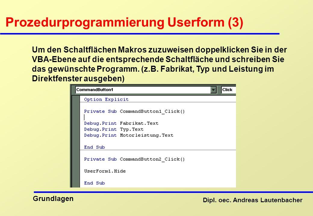 Prozedurprogrammierung Userform (3)