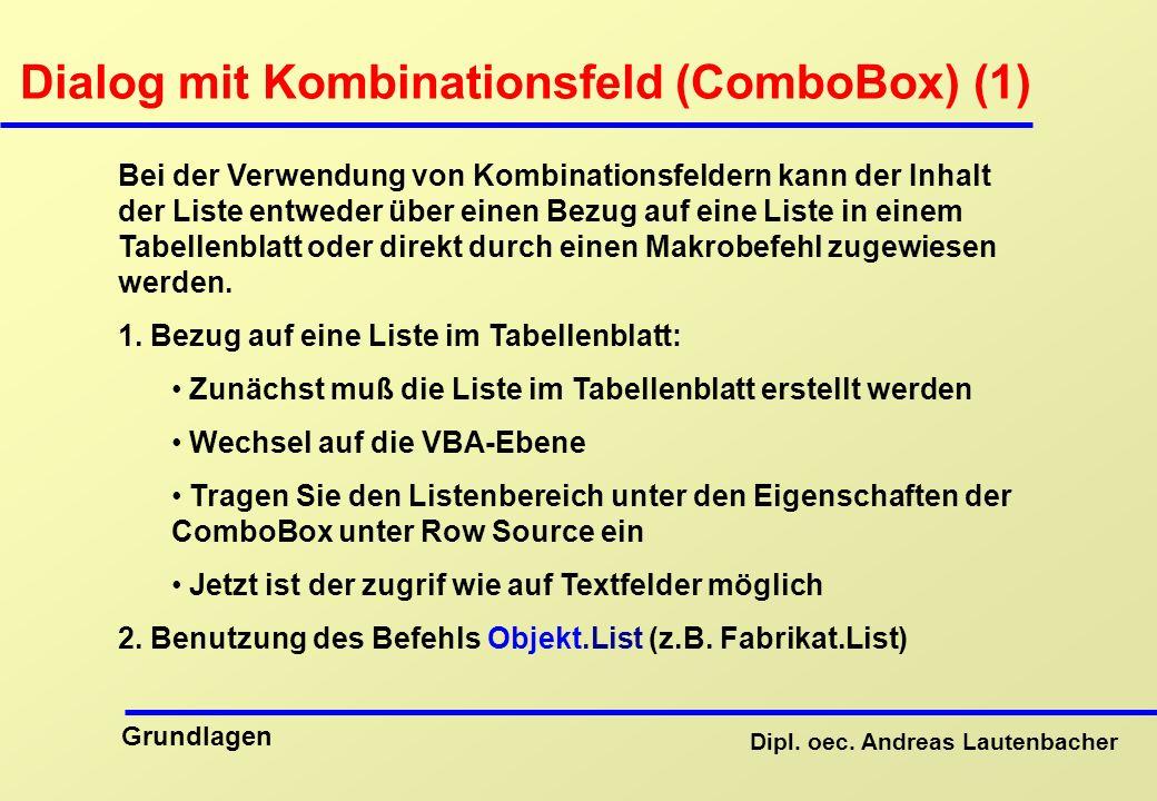 Dialog mit Kombinationsfeld (ComboBox) (1)