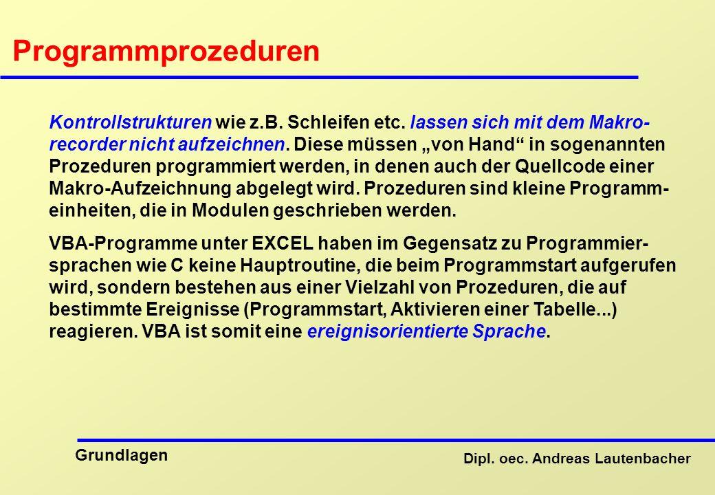 Programmprozeduren