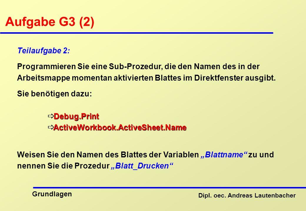 Aufgabe G3 (2) Teilaufgabe 2: