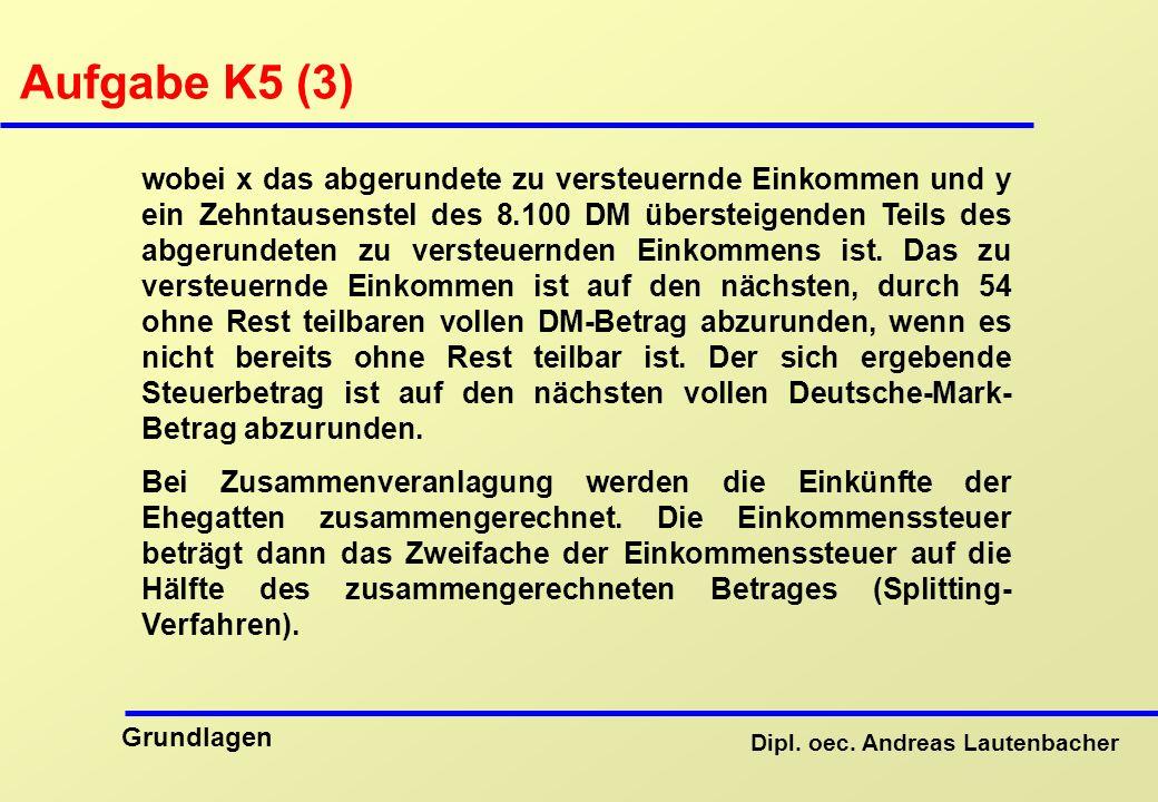 Aufgabe K5 (3)
