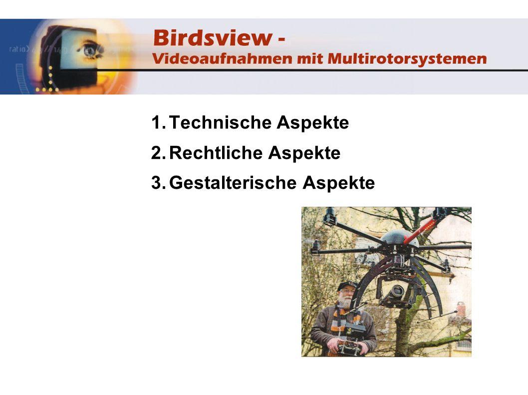 1. Technische Aspekte 2. Rechtliche Aspekte 3. Gestalterische Aspekte