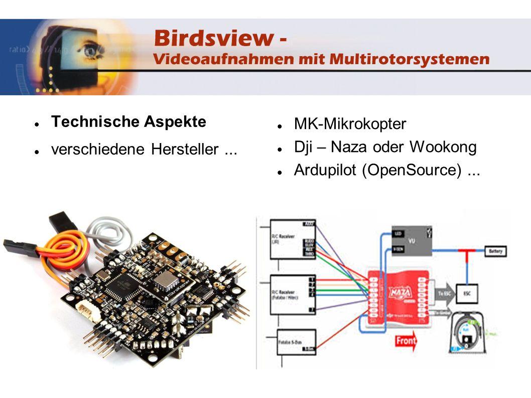 Technische Aspekte verschiedene Hersteller ... MK-Mikrokopter.