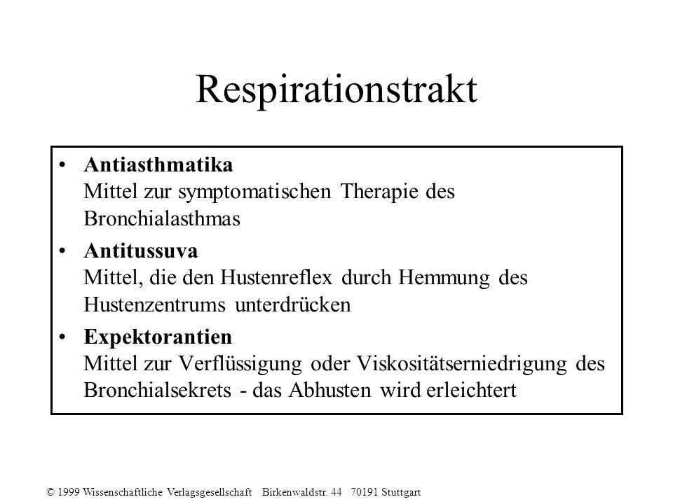 Respirationstrakt Antiasthmatika Mittel zur symptomatischen Therapie des Bronchialasthmas.