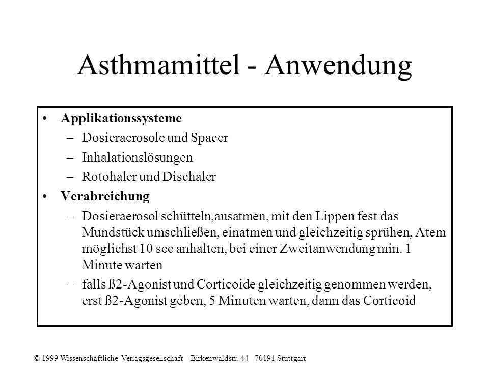 Asthmamittel - Anwendung