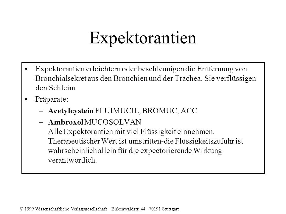 Expektorantien