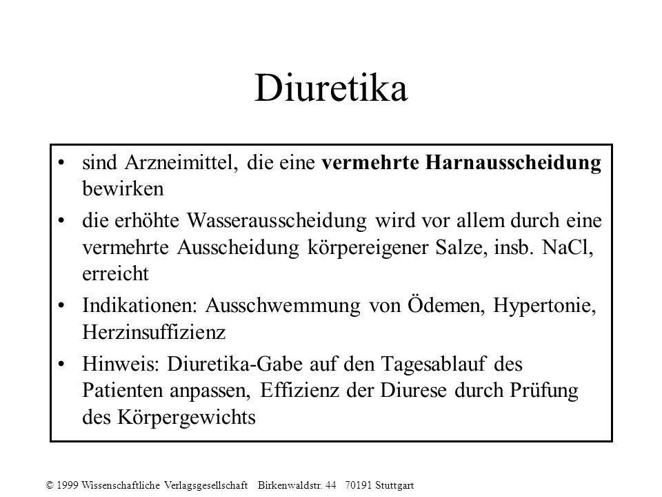Diuretika sind Arzneimittel, die eine vermehrte Harnausscheidung bewirken.