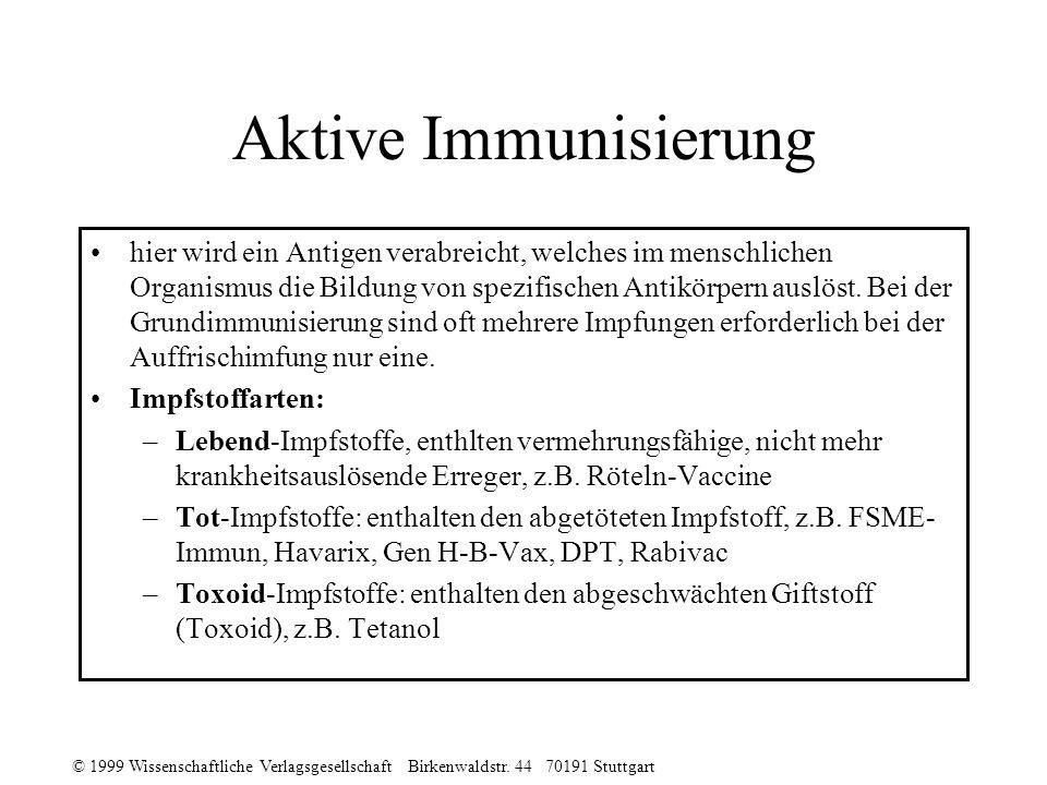 Aktive Immunisierung