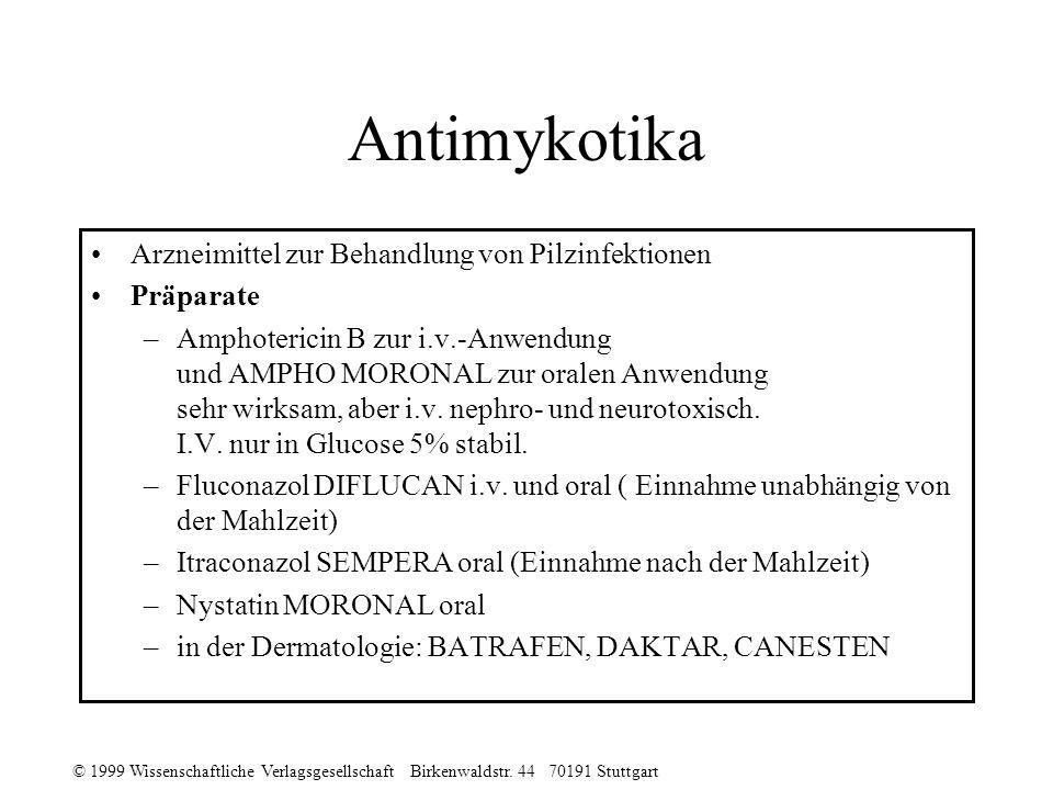 Antimykotika Arzneimittel zur Behandlung von Pilzinfektionen Präparate
