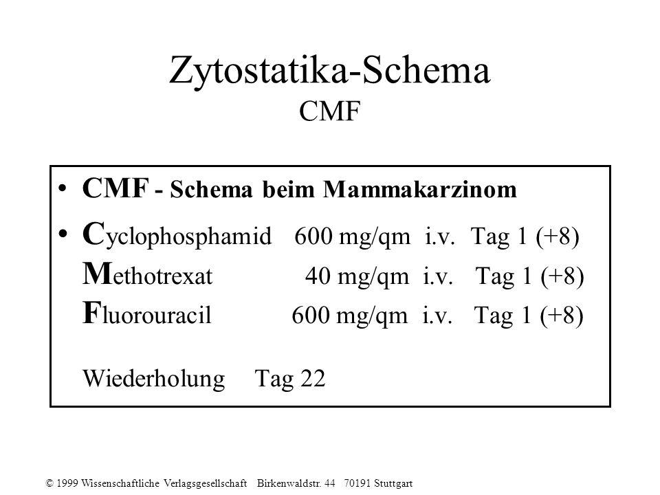 Zytostatika-Schema CMF