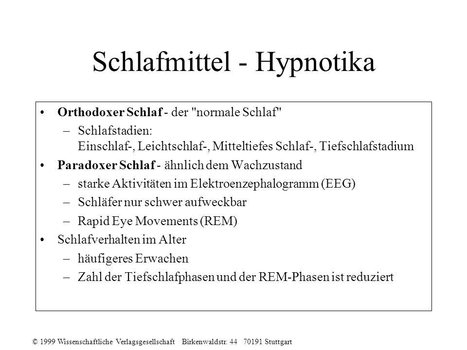 Schlafmittel - Hypnotika
