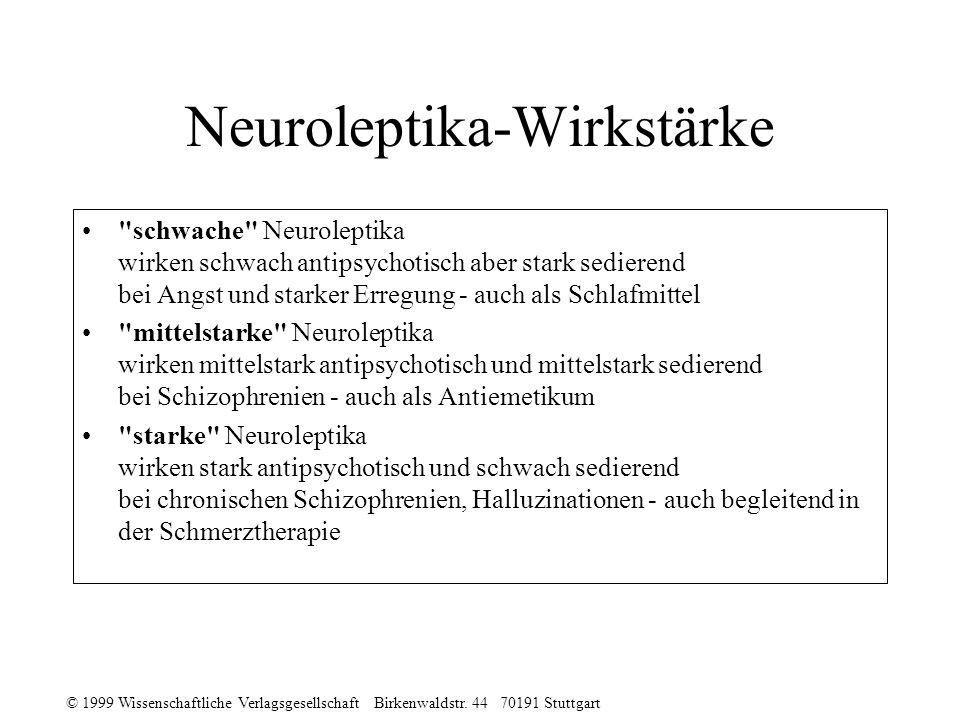 Neuroleptika-Wirkstärke