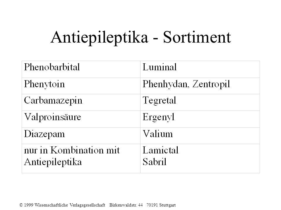 Antiepileptika - Sortiment
