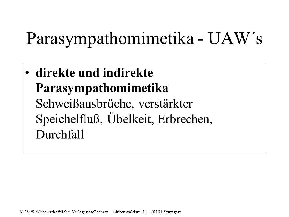 Parasympathomimetika - UAW´s