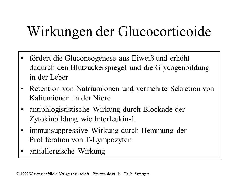 Wirkungen der Glucocorticoide