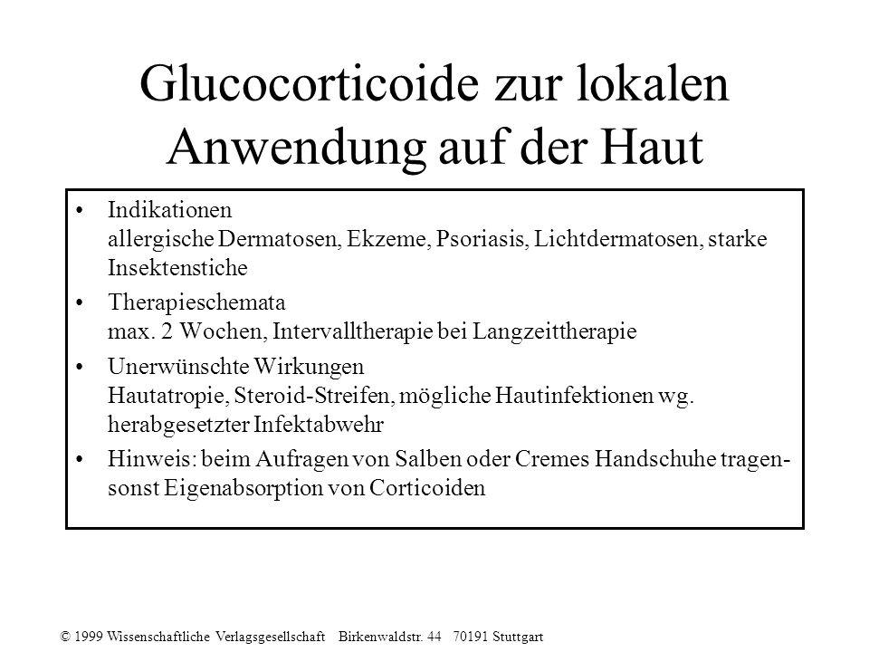Glucocorticoide zur lokalen Anwendung auf der Haut