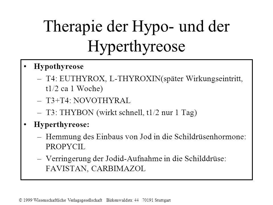 Therapie der Hypo- und der Hyperthyreose