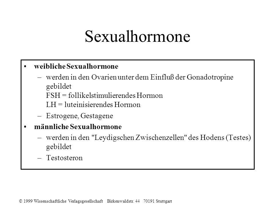 Sexualhormone weibliche Sexualhormone