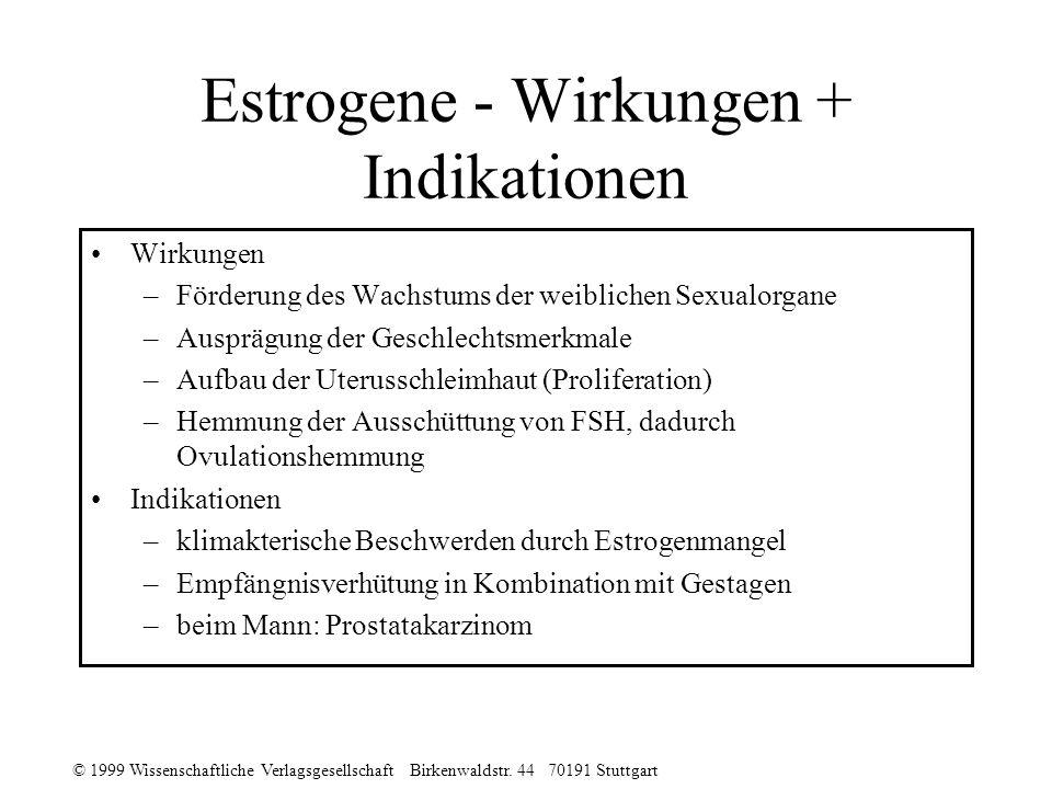 Estrogene - Wirkungen + Indikationen