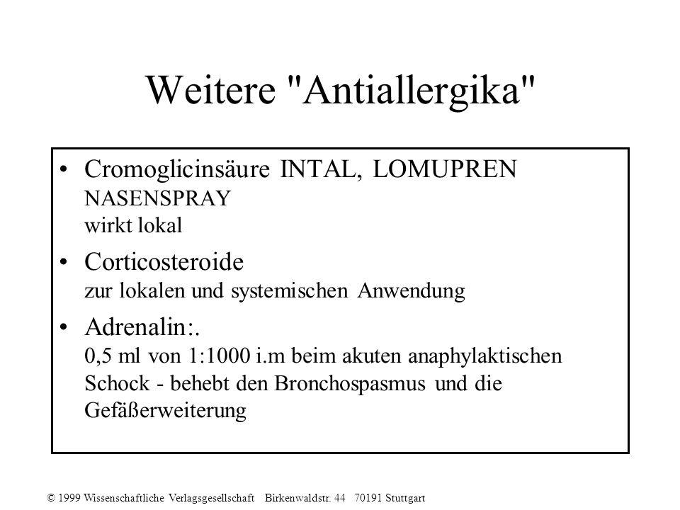Weitere Antiallergika