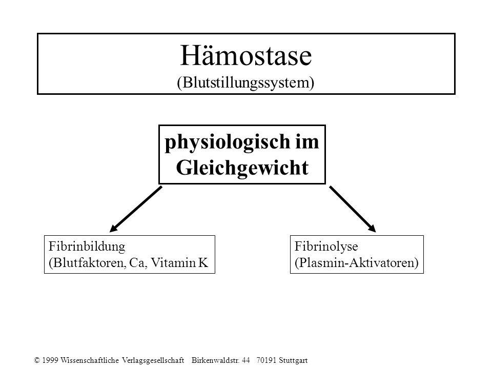 Hämostase (Blutstillungssystem)