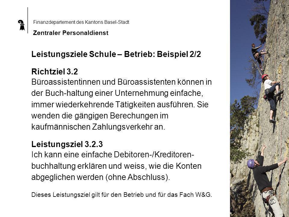 Leistungsziele Schule – Betrieb: Beispiel 2/2 Richtziel 3.2