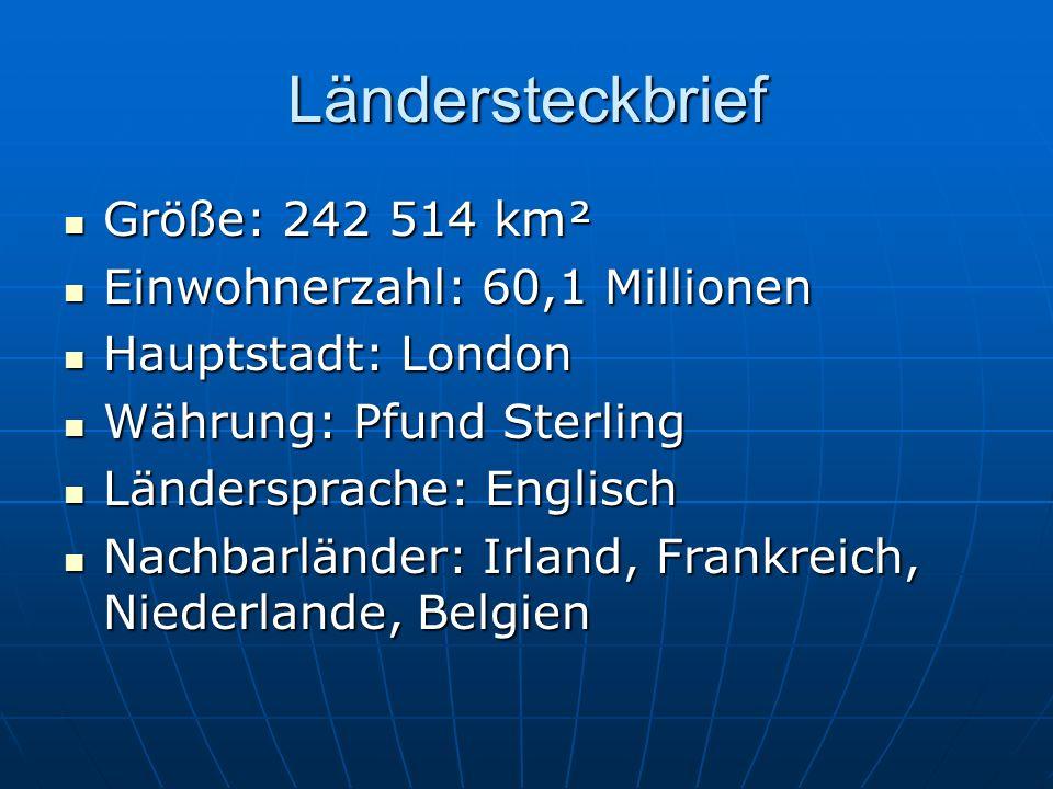 Ländersteckbrief Größe: 242 514 km² Einwohnerzahl: 60,1 Millionen