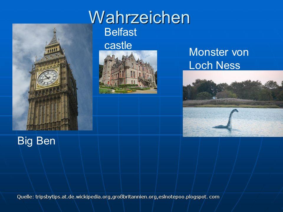 Wahrzeichen Belfast castle Monster von Loch Ness Big Ben
