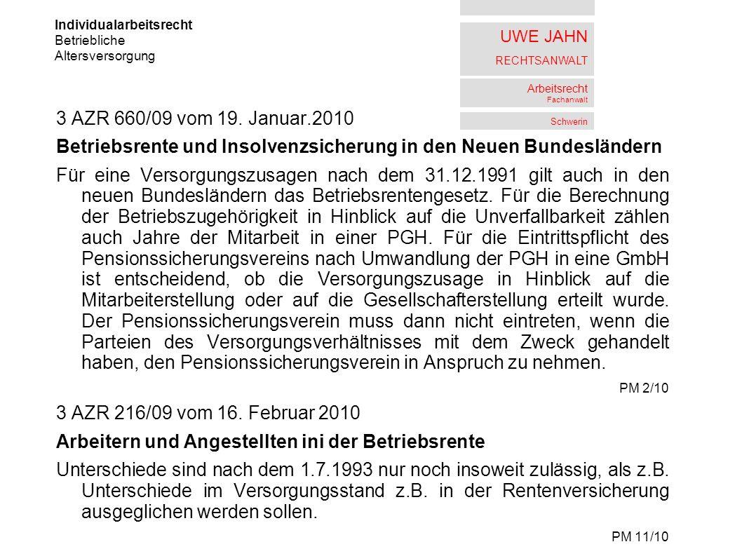 Betriebsrente und Insolvenzsicherung in den Neuen Bundesländern