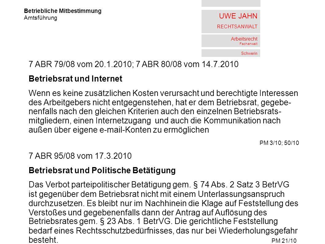 Betriebsrat und Internet