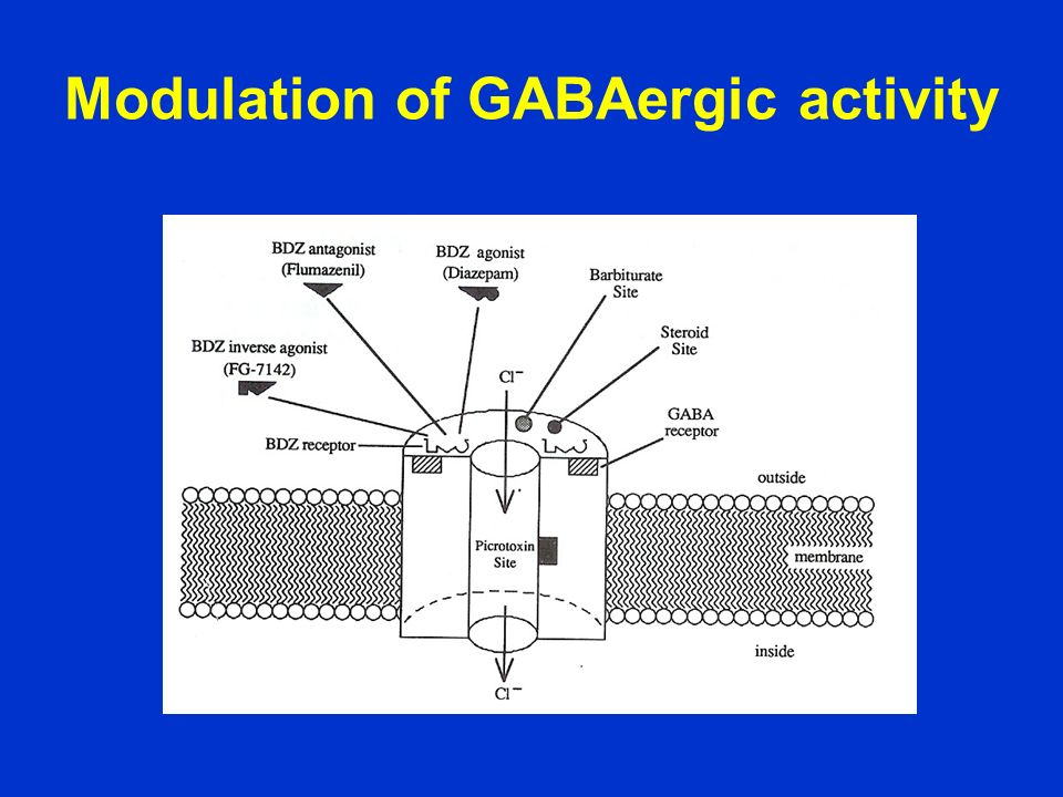 Modulation of GABAergic activity
