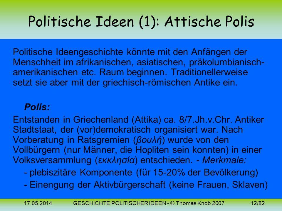 Politische Ideen (1): Attische Polis