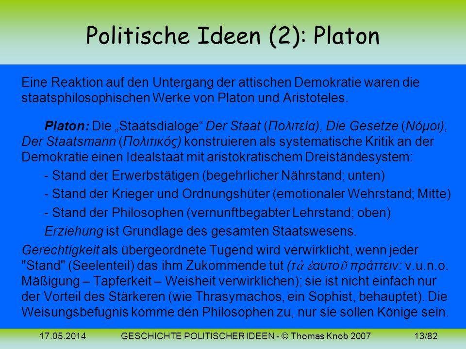 Politische Ideen (2): Platon