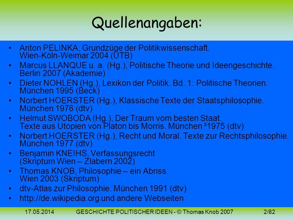 GESCHICHTE POLITISCHER IDEEN - © Thomas Knob 2007