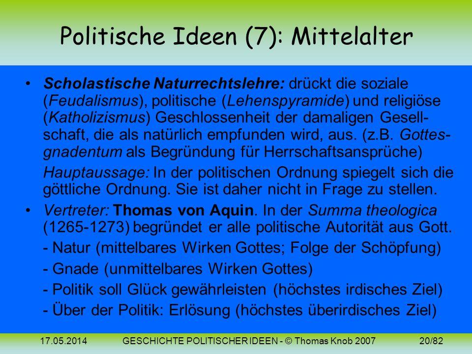 Politische Ideen (7): Mittelalter