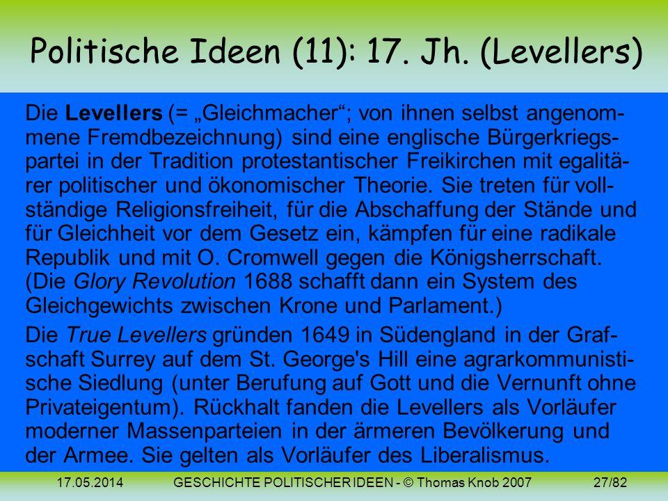 Politische Ideen (11): 17. Jh. (Levellers)