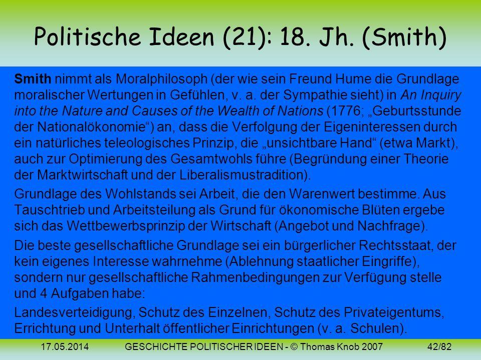 Politische Ideen (21): 18. Jh. (Smith)