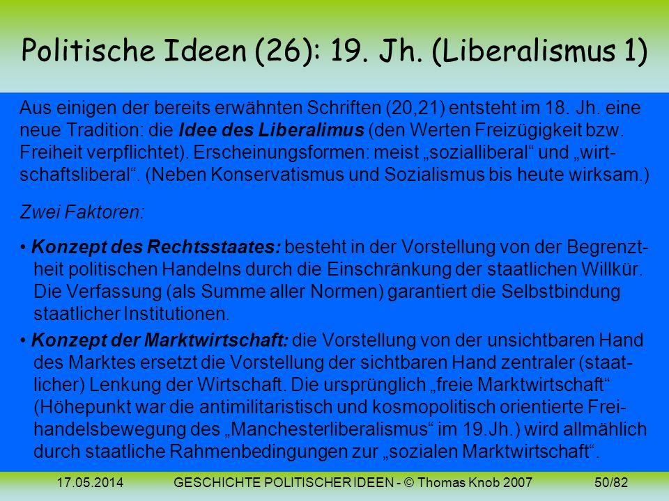 Politische Ideen (26): 19. Jh. (Liberalismus 1)