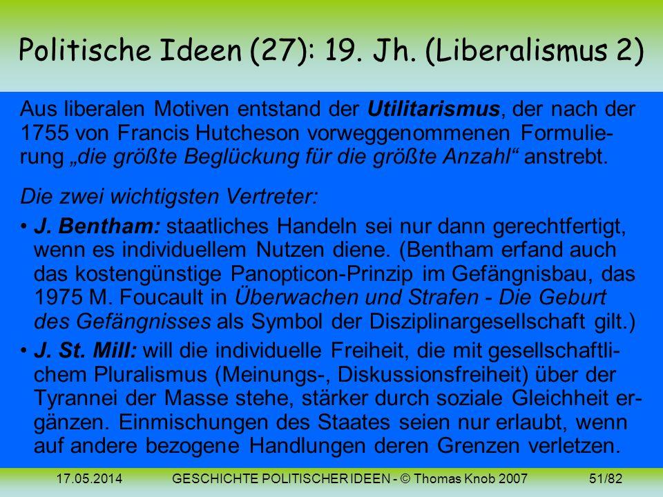 Politische Ideen (27): 19. Jh. (Liberalismus 2)