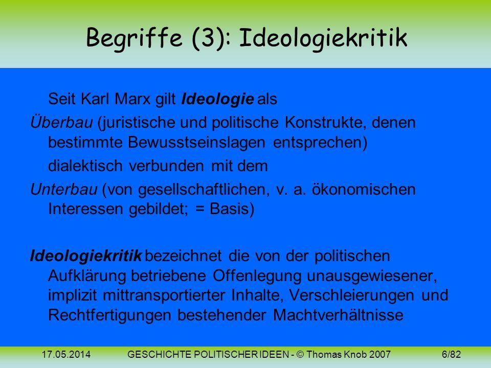 Begriffe (3): Ideologiekritik