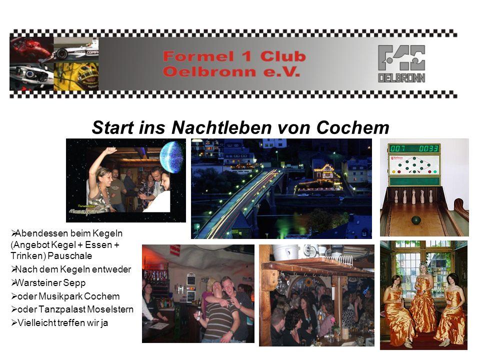 Start ins Nachtleben von Cochem