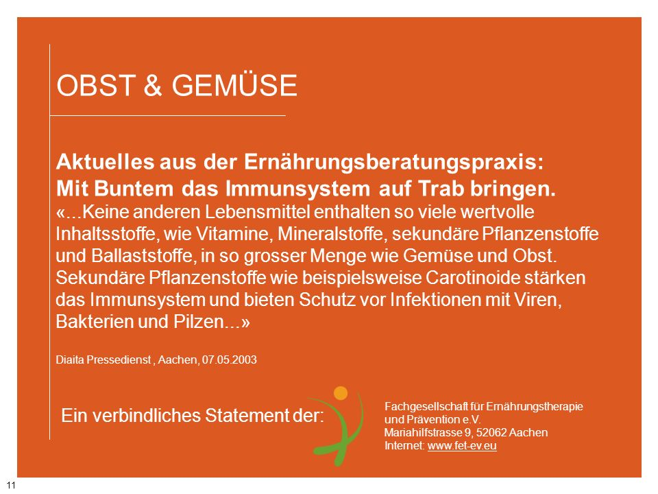 OBST & GEMÜSE Aktuelles aus der Ernährungsberatungspraxis: